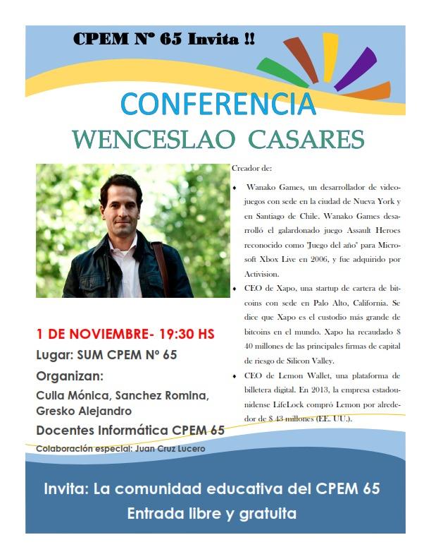 Conferencia de Wenceslao Casares