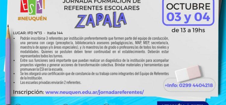 Formación de referentes en educación sexual se realizará en Zapala