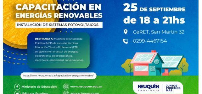 Capacitación sobre energías renovables