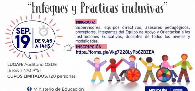 """Encuentro """"Enfoques y prácticas inclusivas"""""""